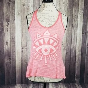 Tokyo Darling knit embroidered eye tank top